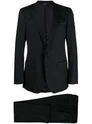 Dolce And Gabbana Classic Dinner Suit Black