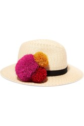 Eugenia Kim Lillian Pompom Embellished Straw Hat Sand