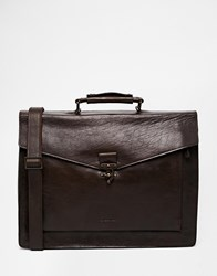 Royal Republiq Leather Conductor Satchel In Brown Brown