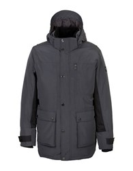 Orobos Filled Long Sleeve Hooded Field Jacket Charcoal