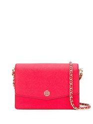 Tory Burch Robinson Convertible Mini Shoulder Bag Red