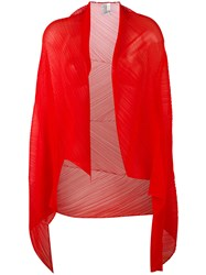 Issey Miyake Pleats Please By Pleated Scarf Red