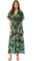 Cooper And Ella Jessa Caftan Green Palm Tree