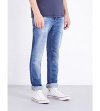Nudie Jeans Grim Tim Regular Fit Straight Leg Orange Cloud