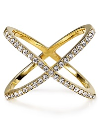 Baublebar Mason Cross Ring Gold