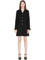 Gucci Wool Coat With Ruffle Trim