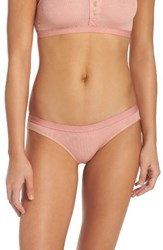 Madewell Women's Rib Knit Bikini Dusty Clay
