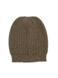 Brunello Cucinelli Cashmere And Silk Beanie Military