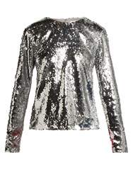 Racil Judy Sequinned Top Silver