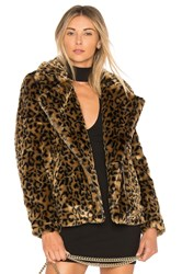 By The Way. Dallas Faux Fur Coat Brown