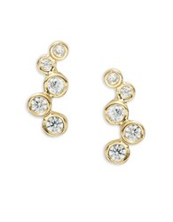 Tai Bubble Pave Stud Earrings Gold