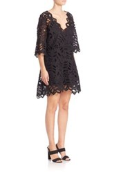 See By Chloe Laser Cut Slim Fit Dress Black