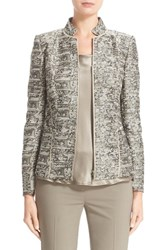 Lafayette 148 New York Women's 'Adley' Stand Collar Jacquard Jacket
