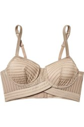 Else Ziggy Embroidered Stretch Jersey Underwired Soft Cup Bra Beige