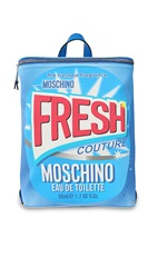 Moschino Printed Pvc Backpack Light Blue