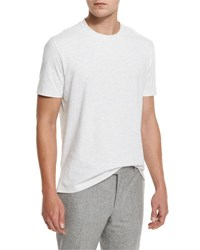 Brunello Cucinelli Marled Crewneck T Shirt Pearl Gray Pearl Grey
