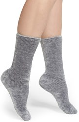 Make Model Squishy Soft Chenille Socks Grey