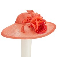 Whiteley Rose Disc Occasion Hat Sunset