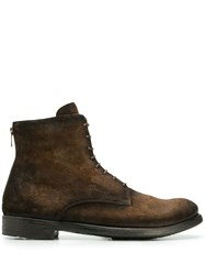 Officine Creative Hive Lace Up Boots Brown