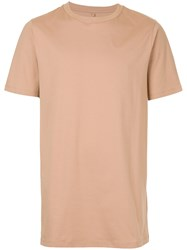 Matthew Miller Short Sleeve Tee Nude And Neutrals