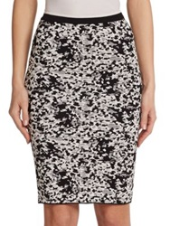 Timo Weiland Carly Printed Body Con Skirt Black White