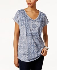 Style And Co Aztec Print T Shirt Only At Macy's Denim