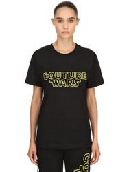 Moschino Oversized Couture Wars Jersey T Shirt Black