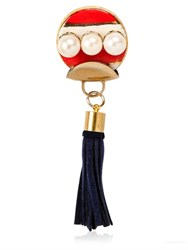 Sonia Boyajian Gypsy Leather Tassel Gold Plated Pin