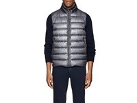 Herno Down Quilted Ripstop Vest Gray