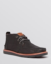 Toms Leather Chukka Boots Black