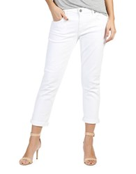 Paige Brigitte Rolled Cropped Straight Leg Jeans Optic White