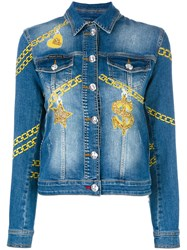 Philipp Plein Blejan Denim Jacket Blue