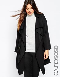 Asos Curve Mac With Waterfall Front Black