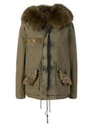 Mr And Mrs Italy Hooded Lined Parka Green