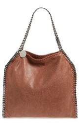 Stella Mccartney 'Small Falabella Shaggy Deer' Faux Leather Tote Brown Maple