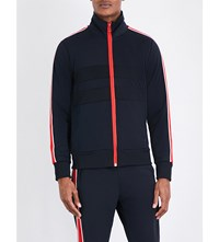 Paul Smith Ps By Taped Jersey Track Jacket Navy Red
