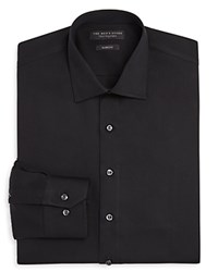 Bloomingdale's The Men's Store At Solid Slim Fit Dress Shirt Black