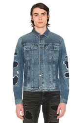 Helmut Lang Mr 87 Destroy Jacket Indigo