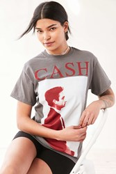 Urban Outfitters Johnny Cash Tee Black