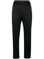 Alexander Wang T By Cropped Lightweight Trousers Polyester Triacetate Black