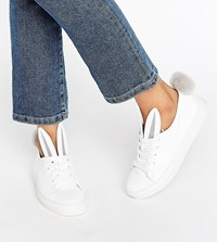 Minna Parikka Tail Sneaks White Leather Trainers White Shearling