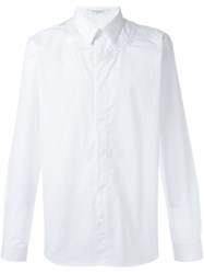 Givenchy Barbed Wire Embroidered Shirt White
