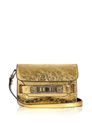 Proenza Schouler Ps11 Mini Metallic Leather Shoulder Bag Gold