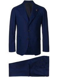 Gabriele Pasini Slim Fit Tailored Suit Blue