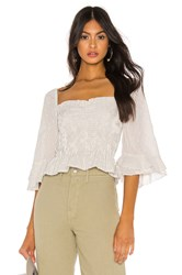 Blue Life Layla Crop Top White