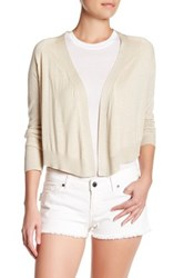 Zadig And Voltaire Monday Open Front Silk Blend Cardigan White