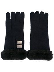 N.Peal Cashmere Gloves Blue