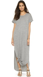 The Great. The Knotted Tee Dress Heather Grey