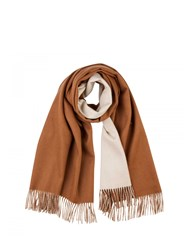 Johnstons Of Elgin Cashmere Reversible Stole Brown