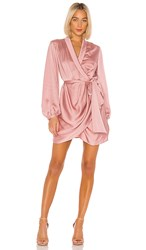 C Meo Collective No Time Dress In Pink. Dusty Pink